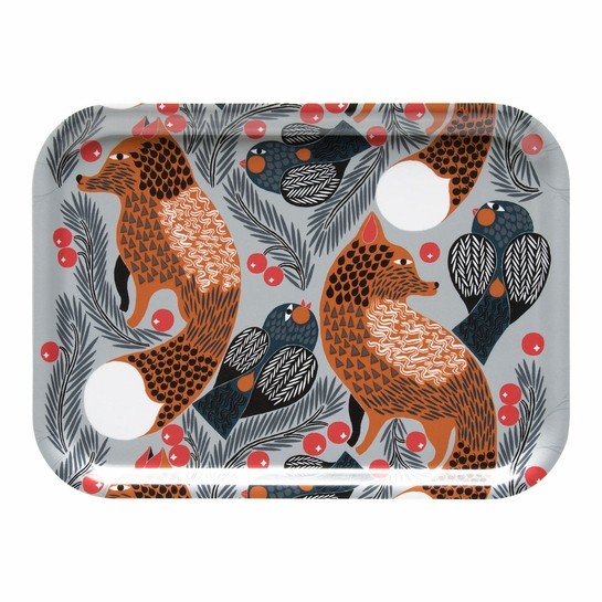 Marimekko Ketunmarja Grey Small Serving Tray