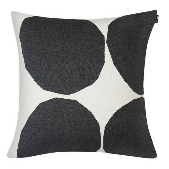 Marimekko Kivet Ivory / Black Large Throw Pillow
