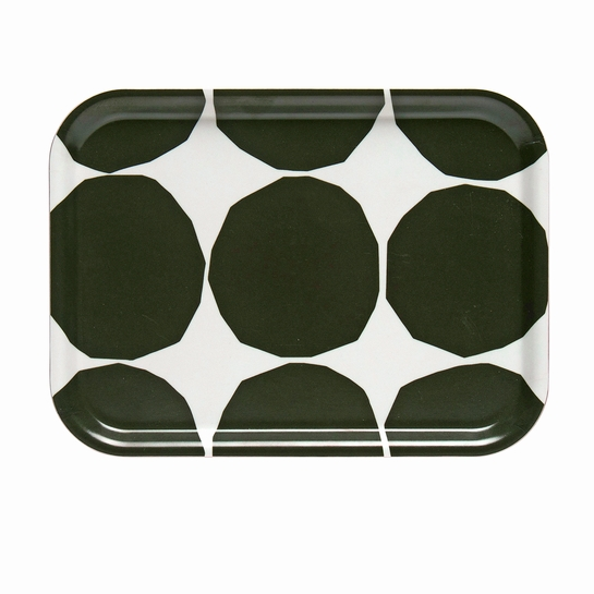 Marimekko Kivet Ivory / Dark Green Small Tray