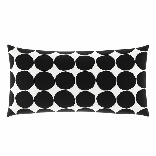 Marimekko Kivet White / Black Oversized Lounge Pillow