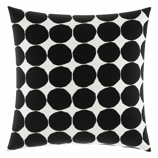 Marimekko Kivet White / Black Oversized Throw Pillow