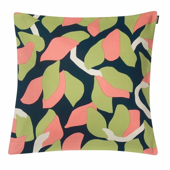 Marimekko Kukero Medium Navy / Pink / Green Throw Pillow