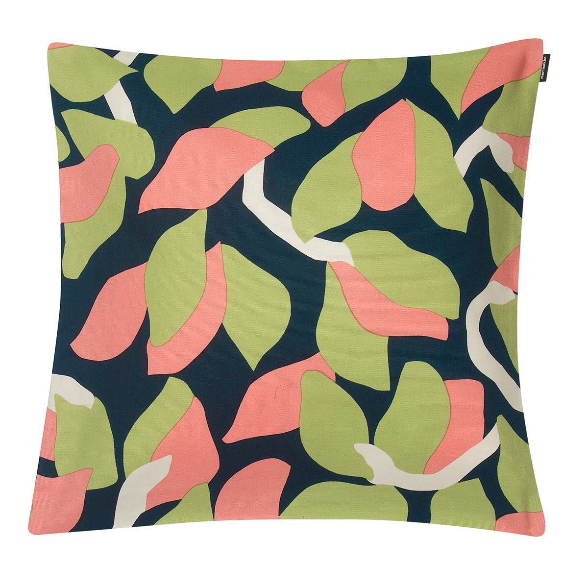 Marimekko Kukero Medium Navy / Pink / Green Throw Pillow   Throw