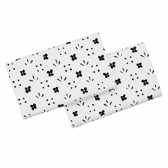 Marimekko Kukkaketo White / Black King Pillowcases - Set of 2