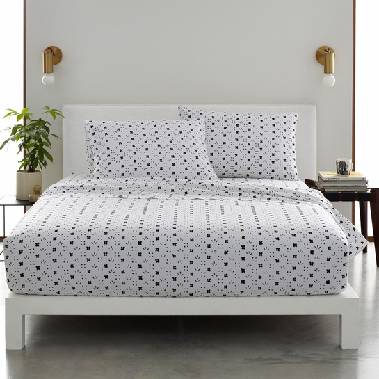Marimekko Kukkaketo White / Black Sheet Sets