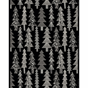 Marimekko Kuusikossa Black / White Acrylic-coated Cotton Fabric