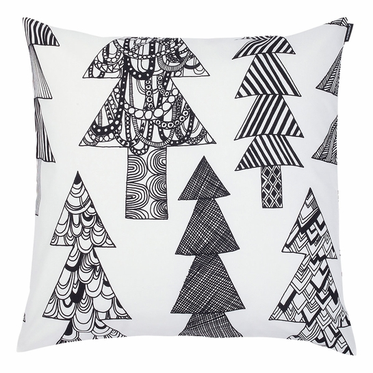 Marimekko Kuusikossa White / Black Medium Throw Pillow