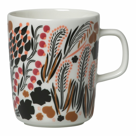 Marimekko Letto White / Brown / Pink Mug