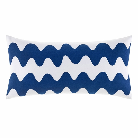 Marimekko Lokki White / Blue Oversized Lounge Pillow