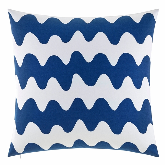 Marimekko Lokki White / Blue Oversized Throw Pillow