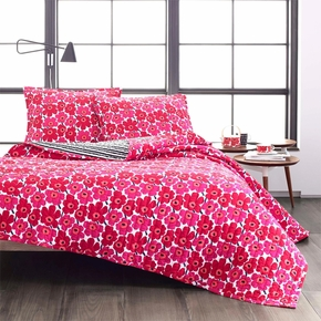 Marimekko Mini Unikko King Reversible Quilt Set