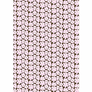 Marimekko Mini Unikko Lilac / Brown Fabric