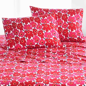 Marimekko Mini Unikko Red King Pillowcase Set