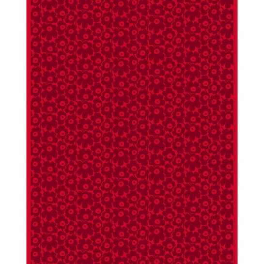 Marimekko Mini Unikko Red / Maroon Fabric