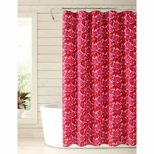 Marimekko Mini Unikko White / Red Shower Curtain