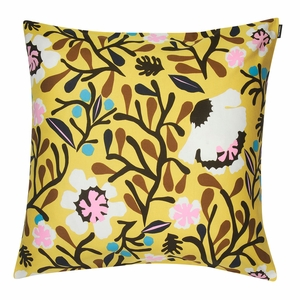 Marimekko Mykero Yellow Large Throw Pillow