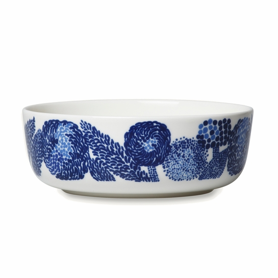 Marimekko Mynsteri Blue Soup / Cereal Bowl