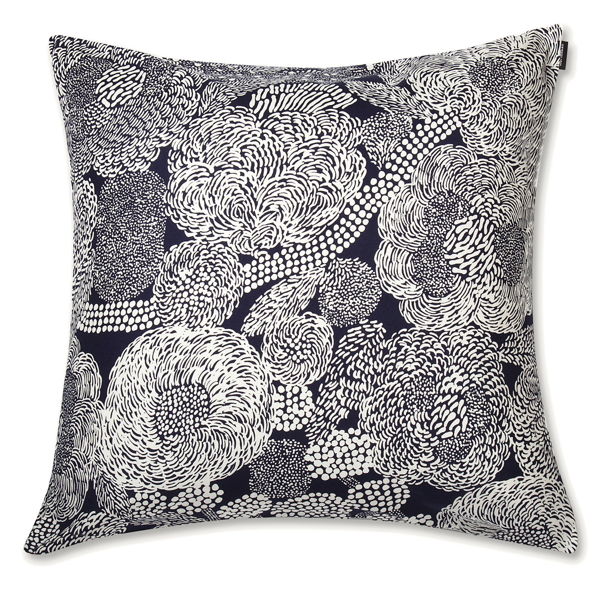 Marimekko Mynsteri Navy White Large Throw Pillow