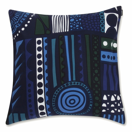 Marimekko Njalla Blue / Green Large Throw Pillow