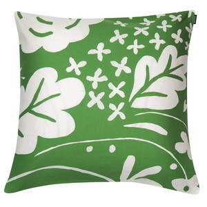 Marimekko Onni Green Throw Pillow