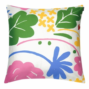 Marimekko Onni White / Multi Large Throw Pillow