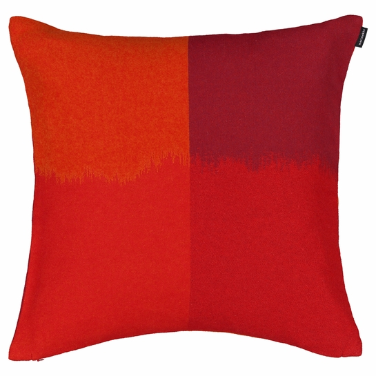 Marimekko Ostjakki Orange / Burgundy Large Throw Pillow