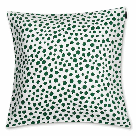 Marimekko Pakkasmarja White / Green Medium Throw Pillow