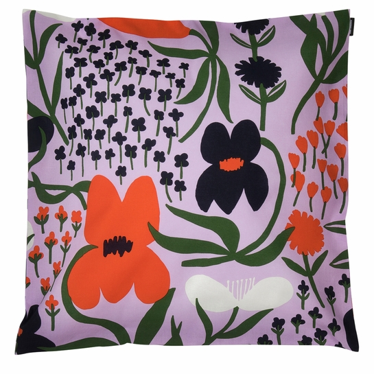 Marimekko Palsta Lilac / Multi Large Throw Pillow