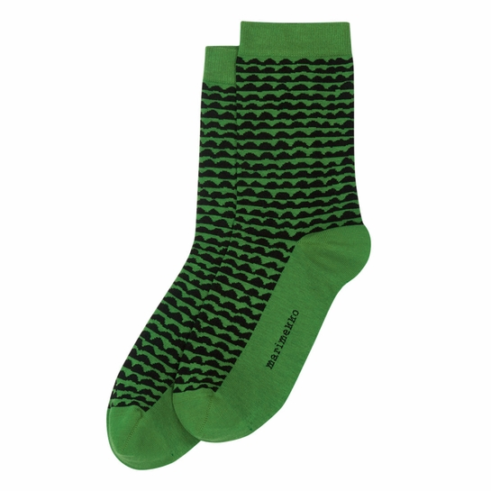Marimekko Papajo Green / Black Socks