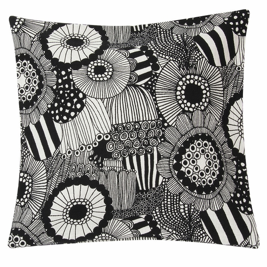 Marimekko Pieni Siirtolapuutarha Ecru / Black Large Throw Pillow