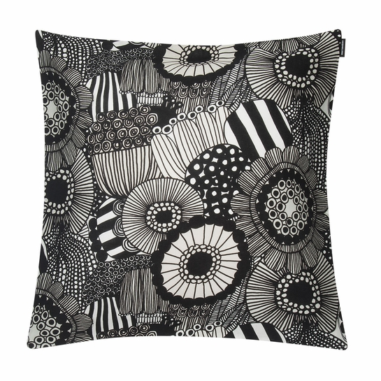 Marimekko Pieni Siirtolapuutarha White / Black / Ecru Medium Throw Pillow