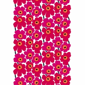 Marimekko Pieni Unikko Red Acrylic-Coated Fabric
