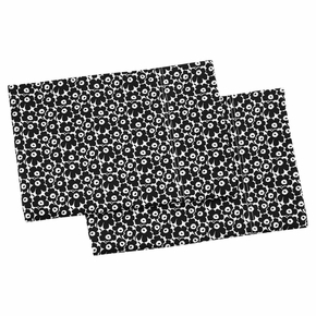 Marimekko Pikkuinen Unikko White / Black King Pillowcases - Set of 2