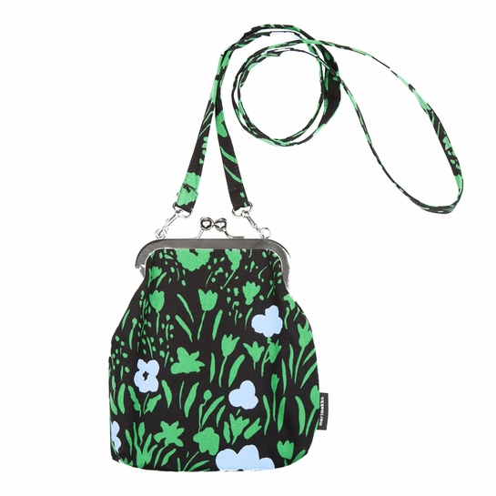 Marimekko Pikkulempi Black / Green / Blue Roosa Purse