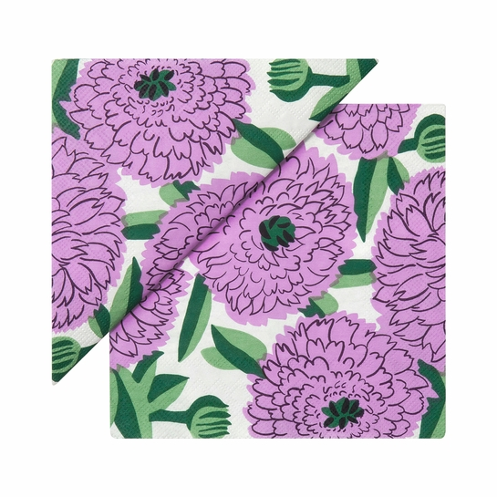 Marimekko Primavera Lilac / Green Cocktail Napkins
