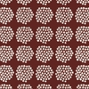 Marimekko Puketti Rust / White / Navy Acrylic-coated Cotton Fabric