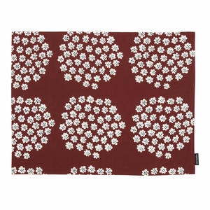 Marimekko Puketti Rust / White / Navy Acrylic-coated Cotton Placemat