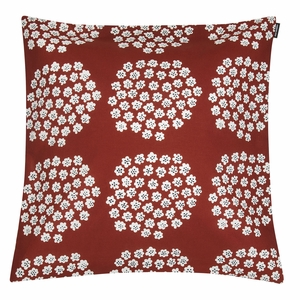Marimekko Puketti Rust / White / Navy Medium Throw Pillow