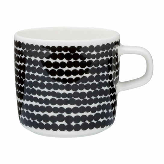 Marimekko Räsymatto White / Black Coffee Cup