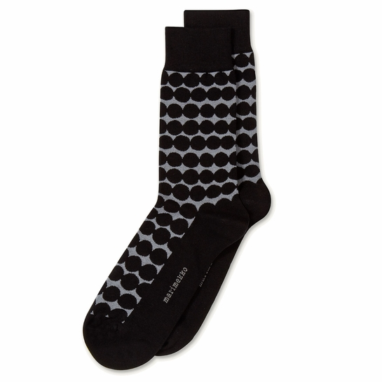 Marimekko Rasymatto Grey / Black Men's Socks