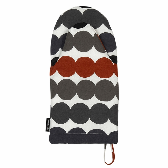 Marimekko Rasymatto Black / Grey / Brown Oven Mitt