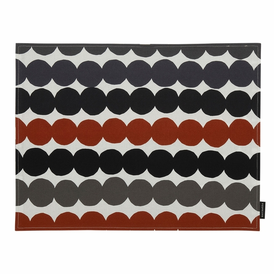 Marimekko Rasymatto Black / Grey / Brown Acrylic-coated Cotton Placemat