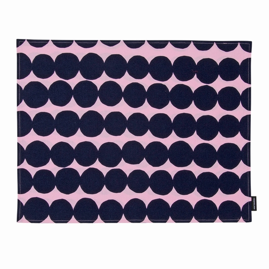 Marimekko Rasymatto Pink / Navy Acrylic-coated Cotton Placemat
