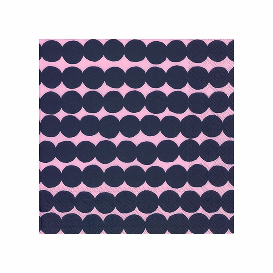 Marimekko Rasymatto Pink / Navy Cocktail Napkins