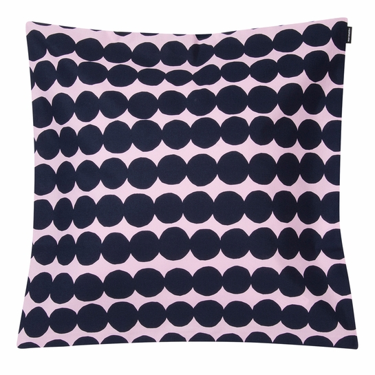 Marimekko Rasymatto Pink / Navy Large Throw Pillow