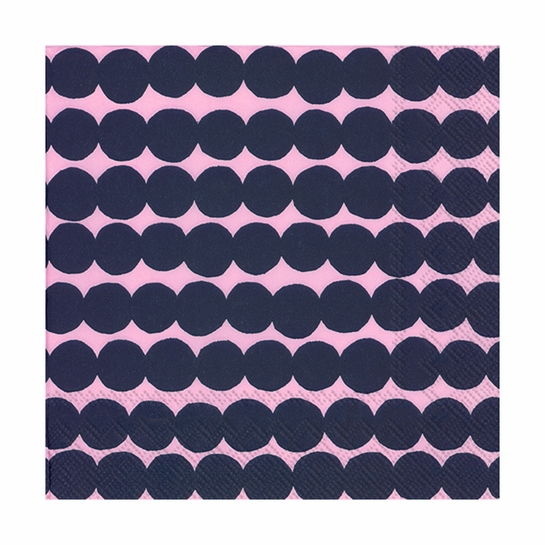 Marimekko Rasymatto Pink / Navy Lunch Napkins