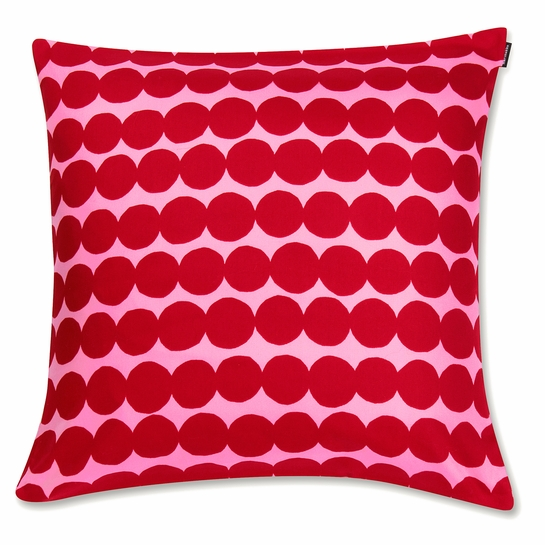 Marimekko Rasymatto Pink / Red Large Throw Pillow