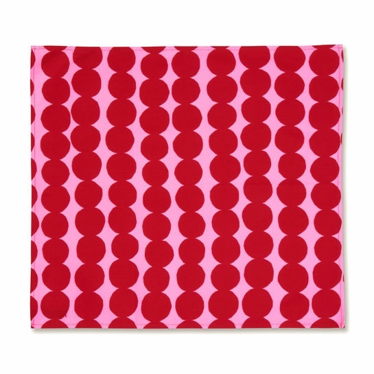 Marimekko Rasymatto Pink / Red Rasymatto Napkin / Tea Towel