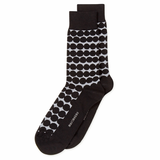 Marimekko Rasymatto Silver / Black Men's Socks