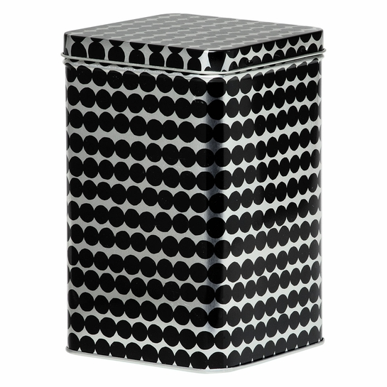 Marimekko Rasymatto Silver / Black Tin Box